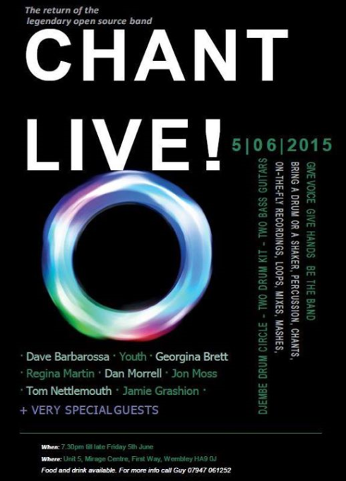 Chant Live!, 5th June 2015