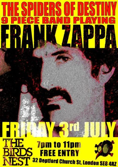 The Spiders of Destiny play Zappa, The Birds Nest, July 5th 2015