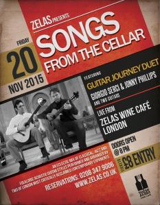 Songs From The Cellar, 20th November 2015