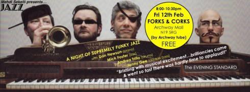 Jonny Gee Quartet @ Forks & Corks, 12th February 2016