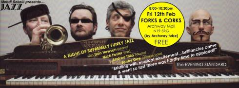 Jonny Gee Quartet @ Forks & Corks, 12th February 2016