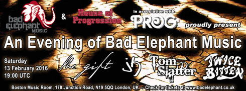 An Evening of Bad Elephant Music, 13th February 2016