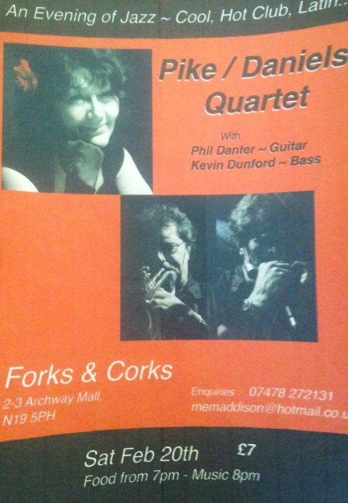 Pike/Daniels Quartet, Forks & Corks, 20th February 2016