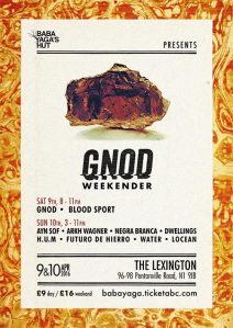 Gnod Weekender, 9th-10th April 2016