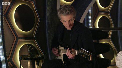 Twelfth Doctor with guitar