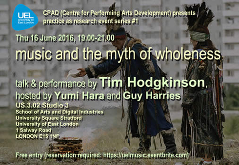 Tim Hodgkinson book launch, 16th June 2016