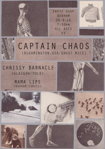Captain Chaos/Chrissy Barnacle/Mama Lips, 20th June 2016