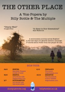 Billy Bottle & The Multiple - 'The Other Place' - on tour, 2016