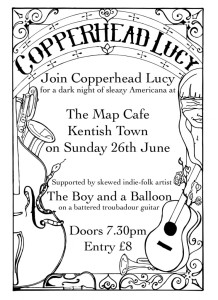 Copperhead Lucy + Boy And A Balloon @ MAP Studio Cafe, 26th June 2016