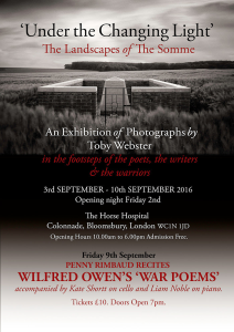 Penny Rimbaud recites the Works of Wilfred Owen, 9th September 2016
