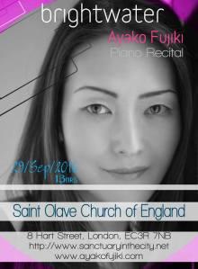 Ayako Fujiki @ St Olaves Hart Street, 29th September 2016