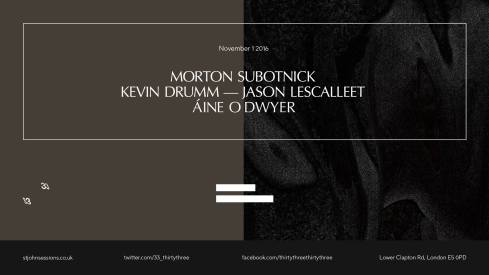 Morton Subotnick + Kevin Drumm & Jason Lescalleet + Áine O'Dwyer at St Johns Hackney, 1st November 2016