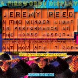 Jeremy Reed & The Ginger Light, 5th November 2016