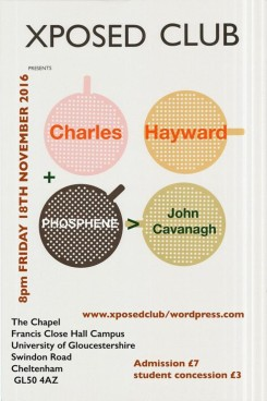 Charles Hayward + Phosphere, 18th November 2016