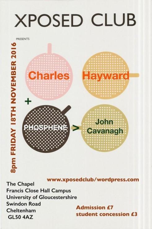 Charles Hayward + Phosphere, 18th November 2016