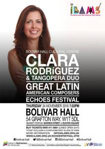Clara Rodriguez' 'Great Latin American Composers', 24th November 2016