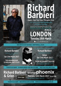 Richard Barbieri + Grice on tour, March 2017