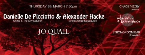 Hacke & De Picciotto + Jo Quail, 9th March 2017