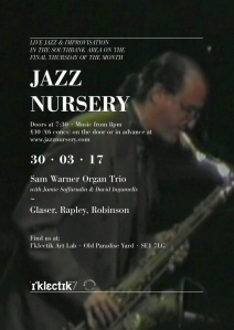Jazz Nursery, 30th March 2017