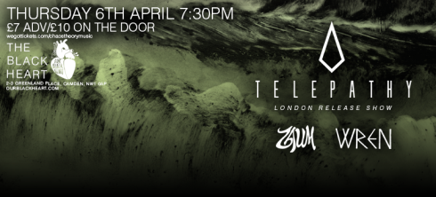 Telepathy + ZAUM + Wren, 6th April 2017