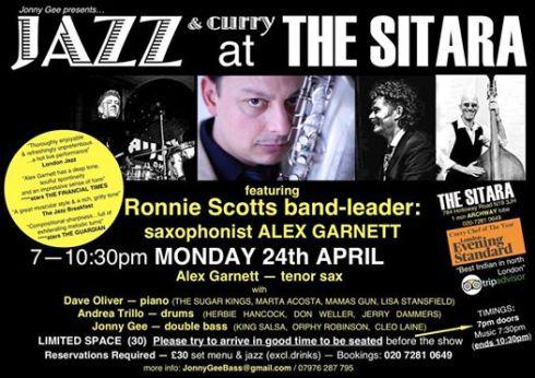 Jazz @ The Sitara, 24th April 2017