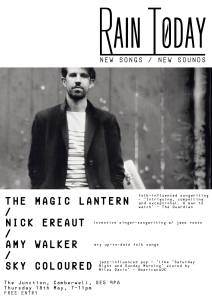 The Magic Lantern + Nick Ereaut + Amy Walker + Sky Coloured, 18th May 2017