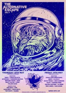 Two of the Alternative Escape gigs in Brighton, 18-19 May 2017
