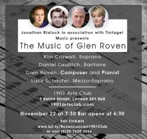 The Music of Glen Roven, 22nd November 2017
