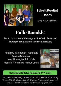 'Folk-Barokk!', 25th November 2017