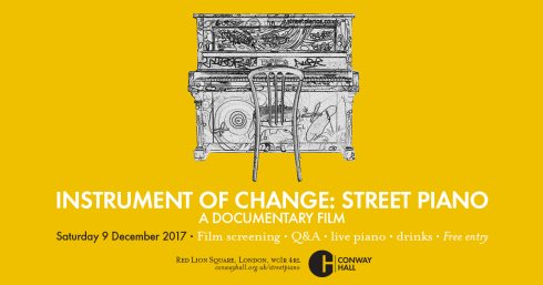 'Instruments of Change: Street Piano' London premiere, 9th December 2017
