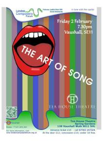 London Composers Forum: The Art Of Song, 2nd February 2018