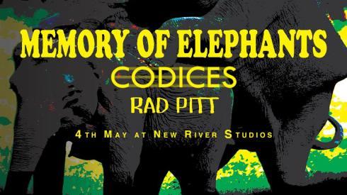 Memory Of Elephants + Codices + Rad Pitt, 4th May 2018