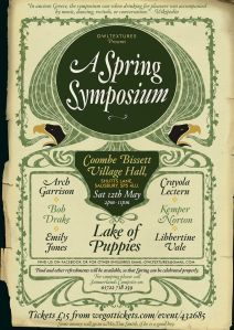 A Spring Symposium (for Tim Smith), 12th May 2018