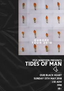 Tides Of Man + Coldbones, 13th May 2018