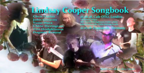 Lindsay Cooper Songbook, 16th June 2018