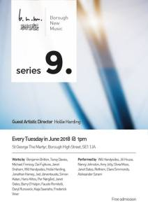 Borough New Music Series 9, June 2018