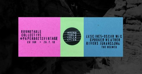 Paper Dress Vintage Takeover: Léscines + Oscar Mic + Crooked Weather + Rivers Johansson & The Deemed Unrighteous, 26th July 2018