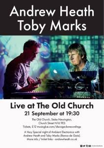 Andrew Heath + Toby Marks, 21st September 2018