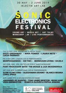 Sonic Electronic Festival, 30th May to 2nd June 2019