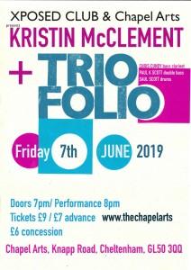 Kristin McClement + Triofolio, 7th June 2019