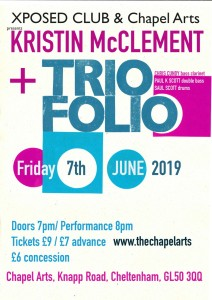 Kristin McClement + Triofolio, 7th June 2019