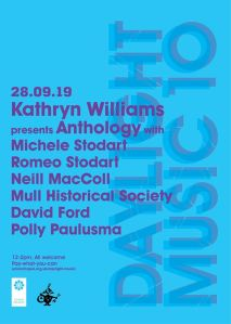 Daylight Music 315: Kathryn Williams Anthology with super special guests – 28th September 2019