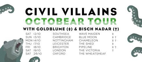 Octobear tour, October 2019