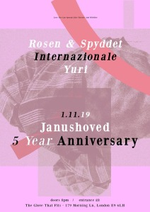 Janushoved 5 Year Anniversary, 1st November 2019